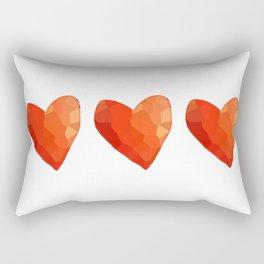 A Single Red Heart Rectangular Pillow