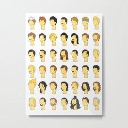 Nic's Wig Collection Metal Print