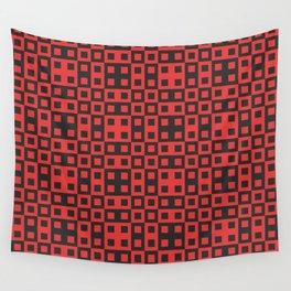 Abstract Polka Dots And Squares Wall Tapestry