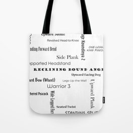 Yoga Positions - Style 1 (Black) Tote Bag