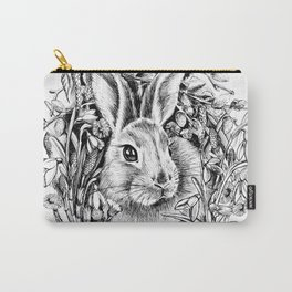 "Spring rabbit. From the series ""Seasons"" Carry-All Pouch"
