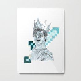 Toby the Diamond King Metal Print