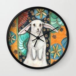 Rabbit and Shell Wallpaper Wall Clock
