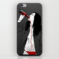 drink iPhone & iPod Skins featuring DRINK by CoCoCo