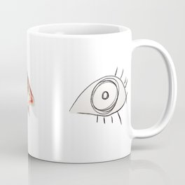 The Other Eye // drawing the reflection pet peeve Coffee Mug