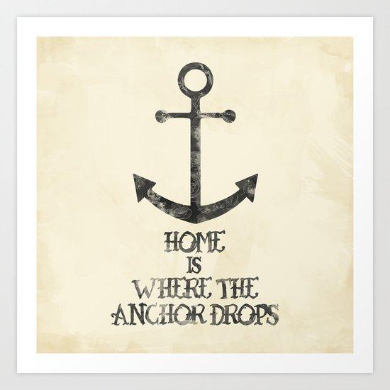 Where The Anchor Drops Art Print