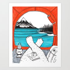 Happy Camper Colour Art Print