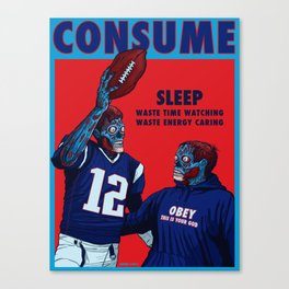 CONSUME: Deflategate the Crybaby and the Smug Prick Canvas Print