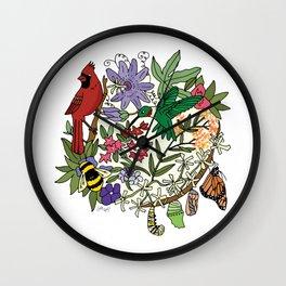 Pollinator's Garden Wall Clock