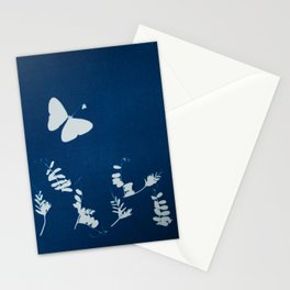 Cyano-butterfly Stationery Cards