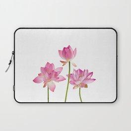 Lotos Waterlilies Flowes pink Laptop Sleeve