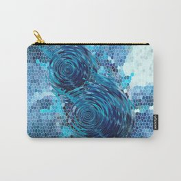 Spinning top and mosaic in blue Carry-All Pouch