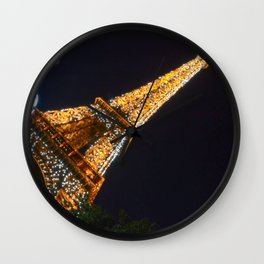 Overexposed | Eiffel Tower Wall Clock