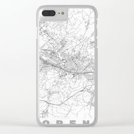 Florence Map Line Clear iPhone Case
