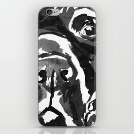 Black Lab - front view iPhone Skin