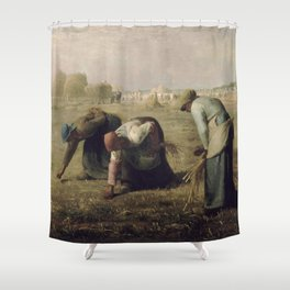 Jean-François Millet - The Gleaners Shower Curtain