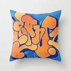 Lern 1 Bubblegum Graffiti NYC Throw Pillow