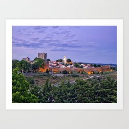 Braganca, Portugal at dusk Art Print