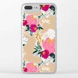 Victorian Buds Clear iPhone Case