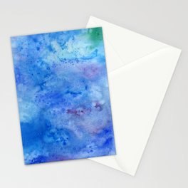 Mariana Trench Watercolor Texture Stationery Cards