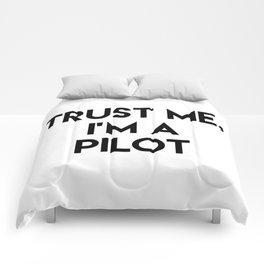 Trust me I'm a pilot Comforters