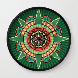 Mayahuel Mandala Wall Clock