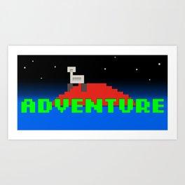 8-Bit Adventure On Mars Art Print