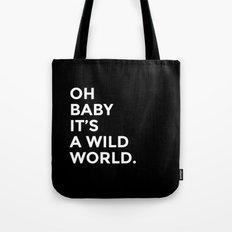 Wild World [black] Tote Bag