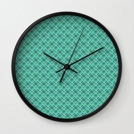 Aqua Brassicas Wall Clock