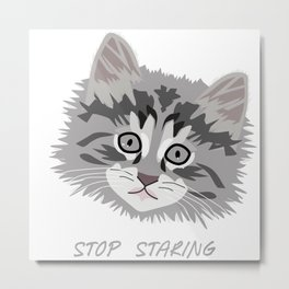 A Kitten's Eyes Metal Print