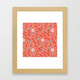Spring Flowers in red Framed Art Print