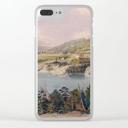 Panorama of West Point from Constitution Island by John Rubens Smith (c 1820) Clear iPhone Case
