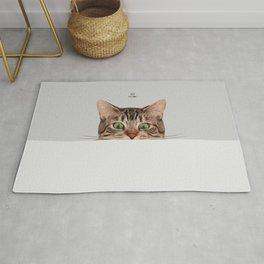 Cat on Gray Rug