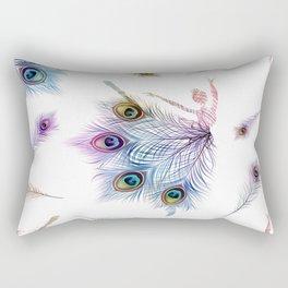 Peacock Dancer Rectangular Pillow