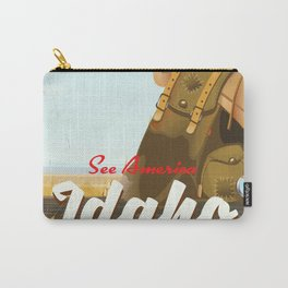 See America - Idaho Backpacking travel poster Carry-All Pouch