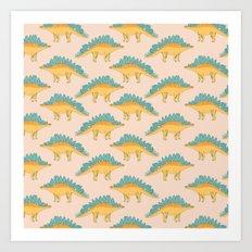 Stegossaur Art Print