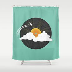 Sunburst Records Shower Curtain
