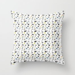 Multiple Helicopters Pattern Throw Pillow