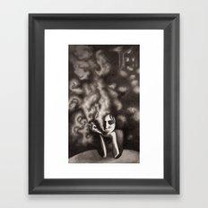Composition in Black Framed Art Print