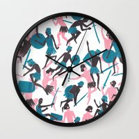 war Wall Clocks featuring War by James White