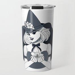 Hibiscus Flower Witch Travel Mug