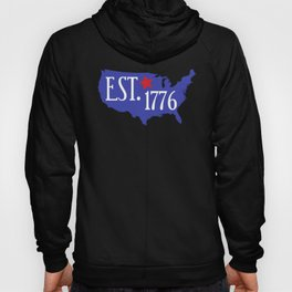 Established 1776 USA Independence Day Map of America Hoody