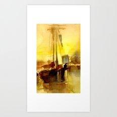 BOSTON 2 - GOLD Art Print