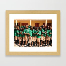 Line up for class Framed Art Print