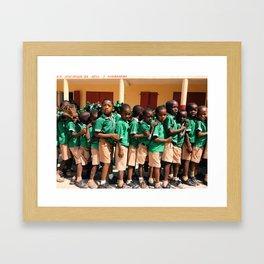 Line up for class Framed Art Print