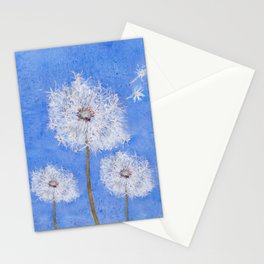flying dandelion watercolor painting Stationery Cards
