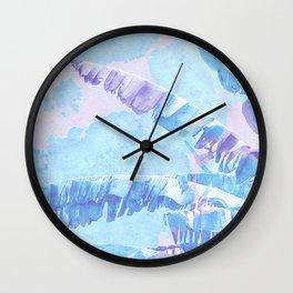 Banana Jungle - Blue & Pink Wall Clock
