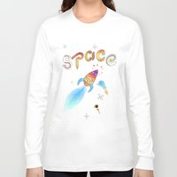 rocket Long Sleeve T-shirts featuring Rocket by Dorrith Rem