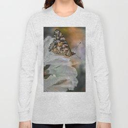 Butterfly in Soft Rain Long Sleeve T-shirt