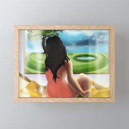 Window of the World [Full Colour mix] Framed Mini Art Print